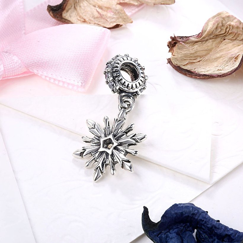 Wholesale 925 Sterling Silver DIY Bracelet Antique CZ Accessories TGSLBD114 1