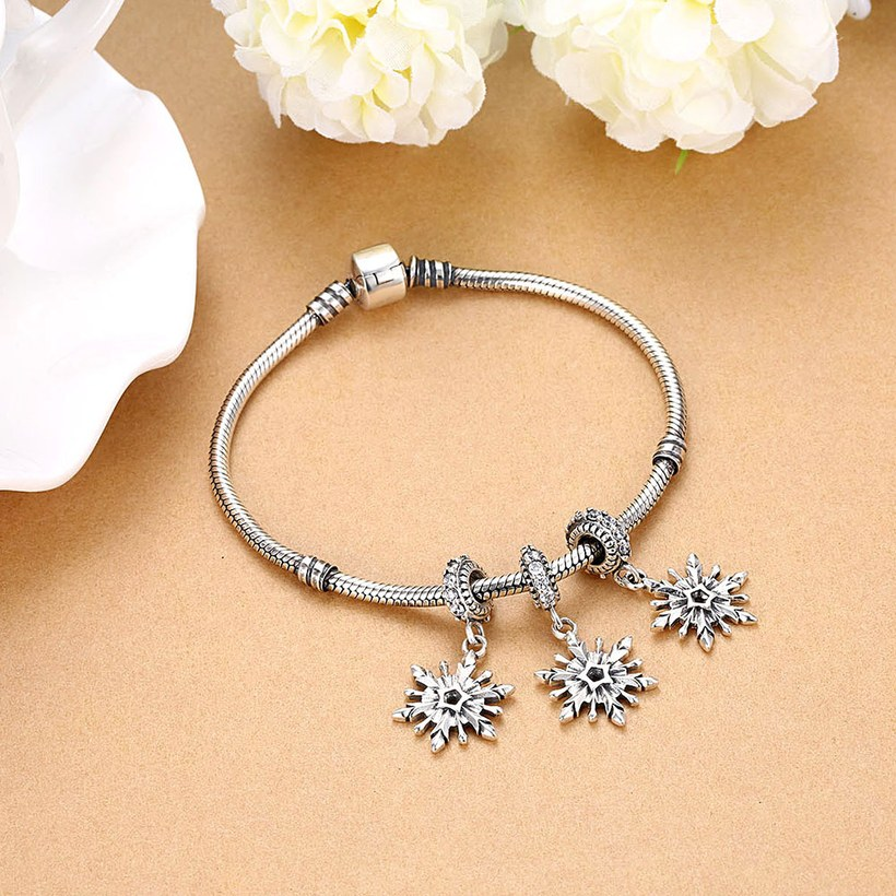 Wholesale 925 Sterling Silver DIY Bracelet Antique CZ Accessories TGSLBD114 4