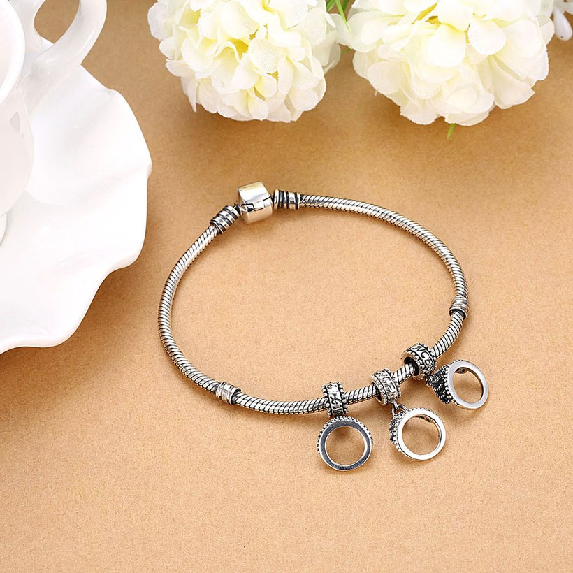 Wholesale 925 Sterling Silver DIY Bracelet Antique Accessories TGSLBD115 4