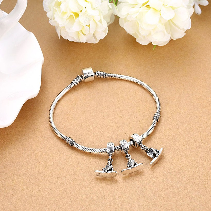 Wholesale 925 Sterling Silver DIY Bracelet Antique Accessories TGSLBD121 3