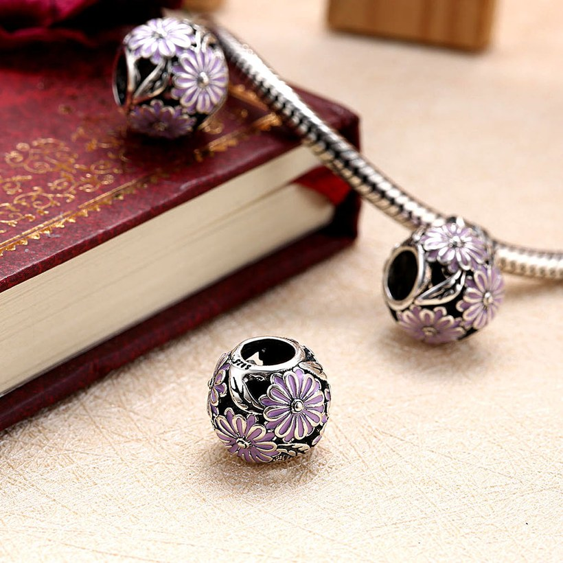Wholesale 925 Sterling Silver DIY Bracelet Antique Bead TGSLBD135 3