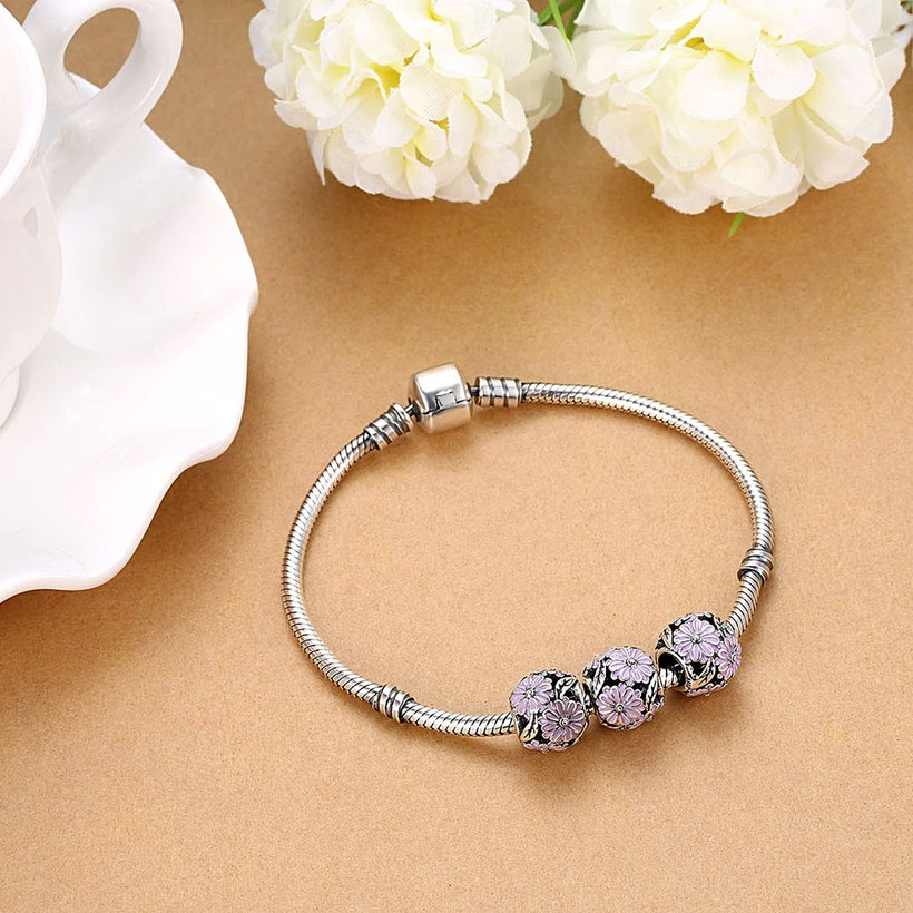Wholesale 925 Sterling Silver DIY Bracelet Antique Bead TGSLBD135 4