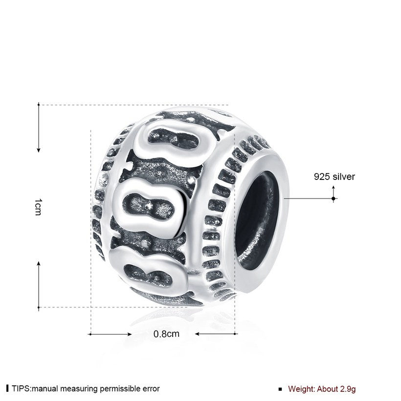 Wholesale Antique 925 Sterling Silver DIY Bracelet Bead TGSLBD003 0