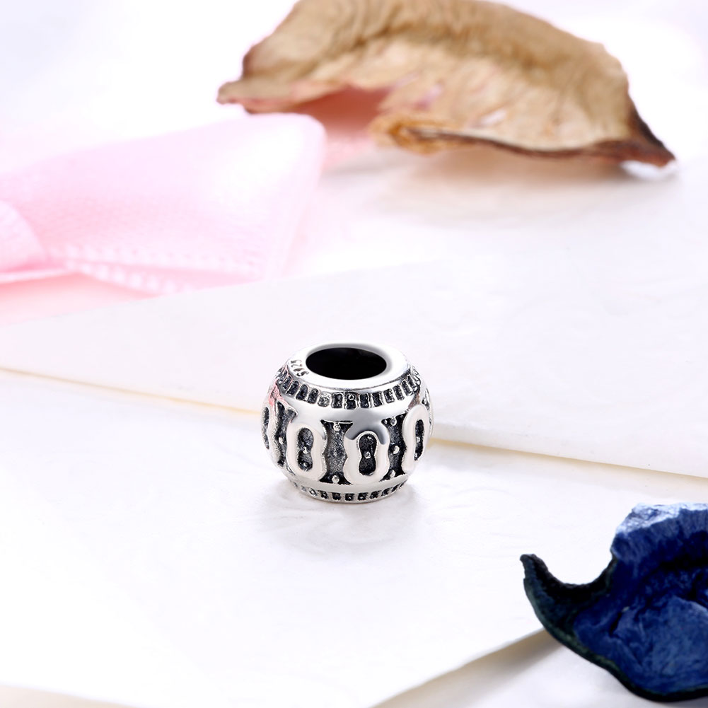 Wholesale Antique 925 Sterling Silver DIY Bracelet Bead TGSLBD003 1