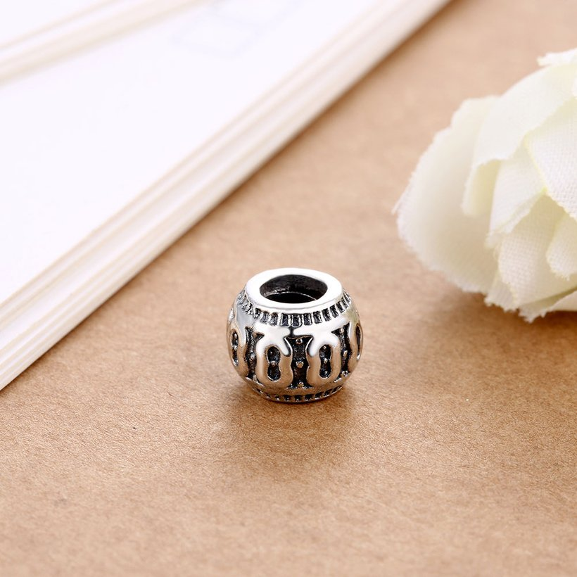 Wholesale Antique 925 Sterling Silver DIY Bracelet Bead TGSLBD003 2