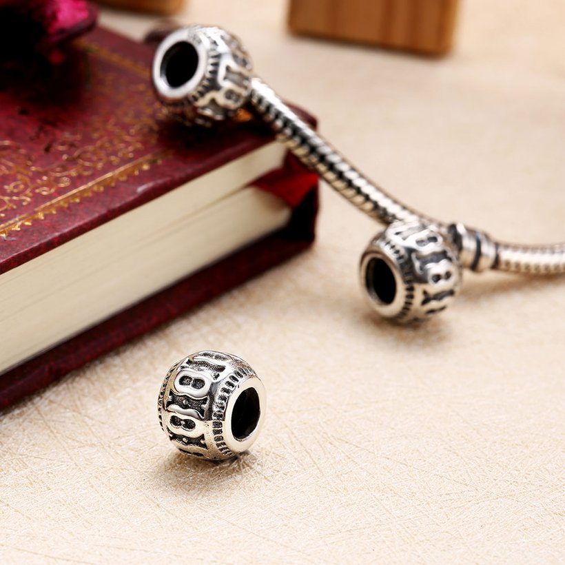 Wholesale Antique 925 Sterling Silver DIY Bracelet Bead TGSLBD003 3