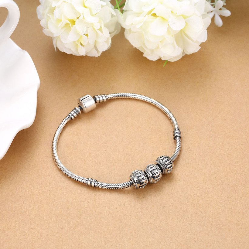 Wholesale Antique 925 Sterling Silver DIY Bracelet Bead TGSLBD003 4