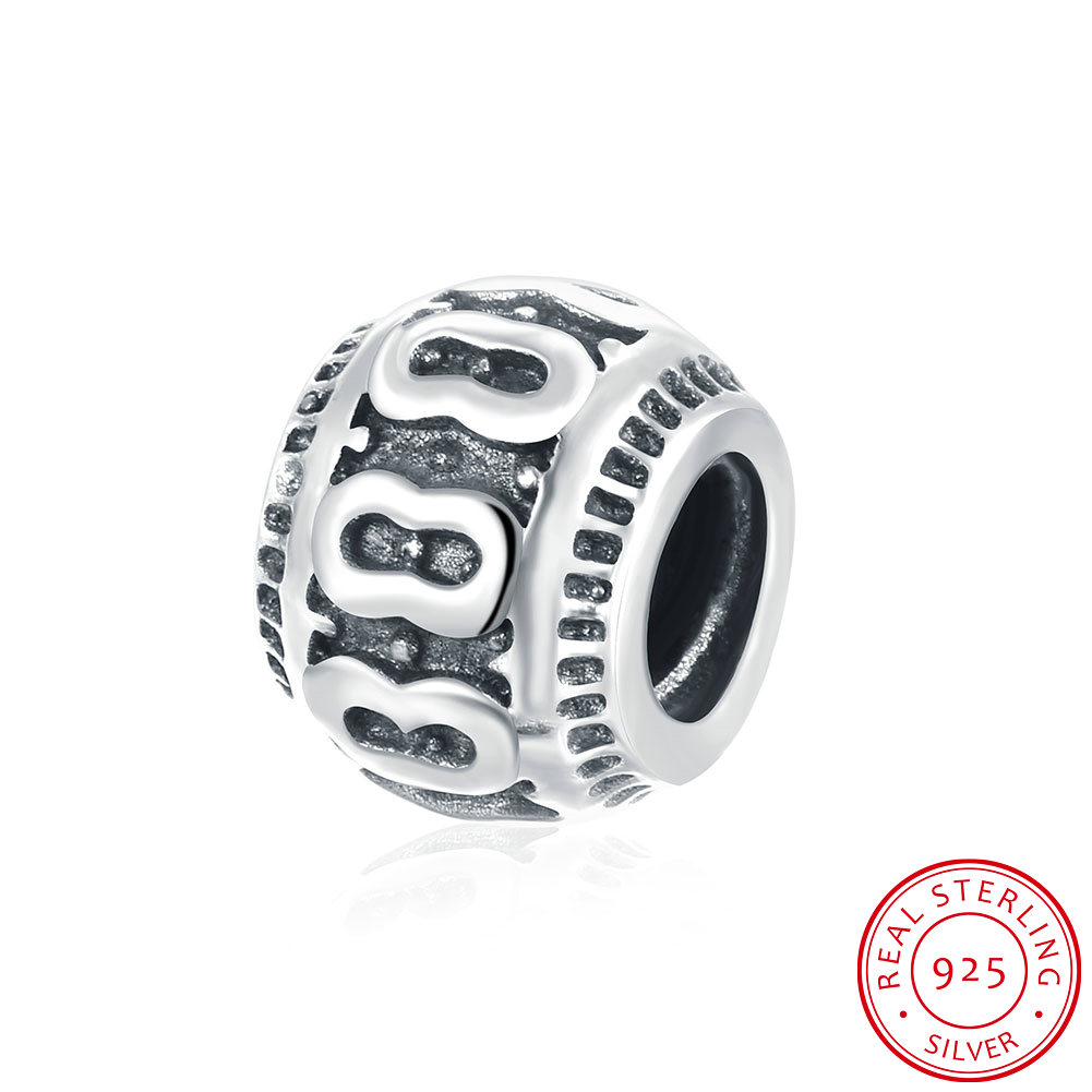 Wholesale Antique 925 Sterling Silver DIY Bracelet Bead TGSLBD003 5