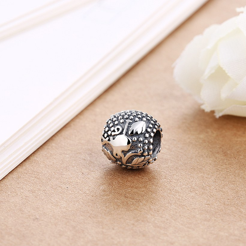Wholesale Antique 925 Sterling Silver DIY Bracelet Bead TGSLBD015 2