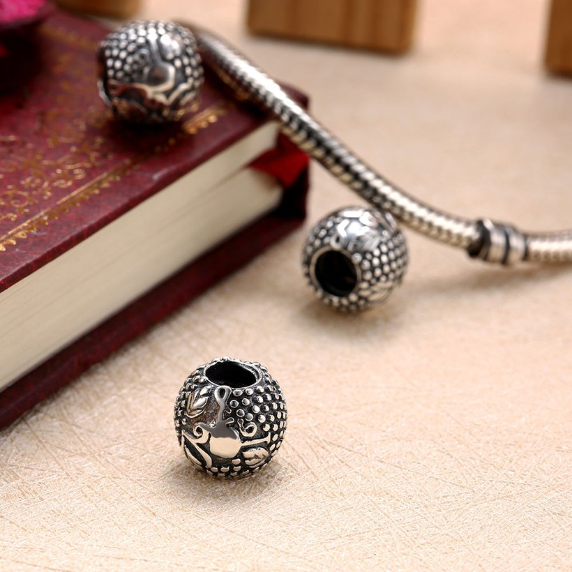 Wholesale Antique 925 Sterling Silver DIY Bracelet Bead TGSLBD015 3