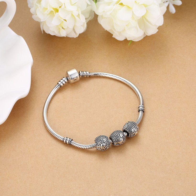 Wholesale Antique 925 Sterling Silver DIY Bracelet Bead TGSLBD015 4