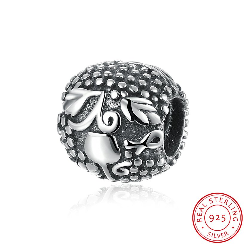 Wholesale Antique 925 Sterling Silver DIY Bracelet Bead TGSLBD015 5
