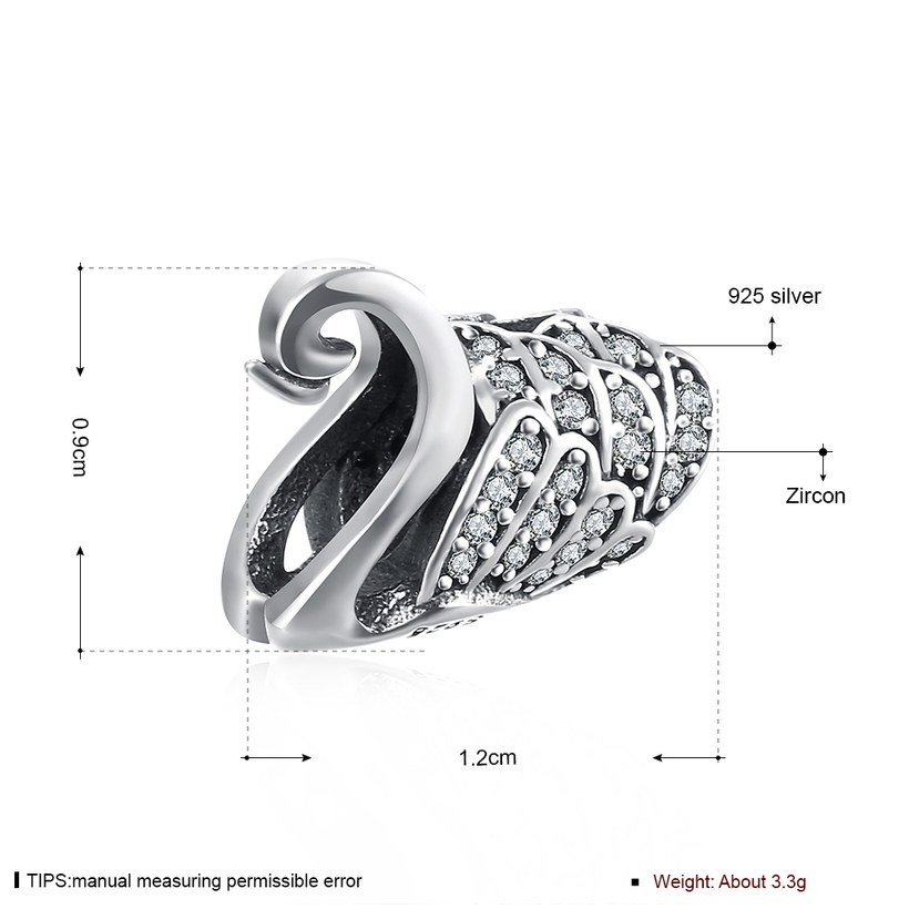 Wholesale Antique 925 Sterling Silver DIY Bracelet CZ Accessories TGSLBD024 0