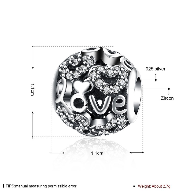 Wholesale 925 Sterling Silver DIY Bracelet Bead Accessories TGSLBD085 0