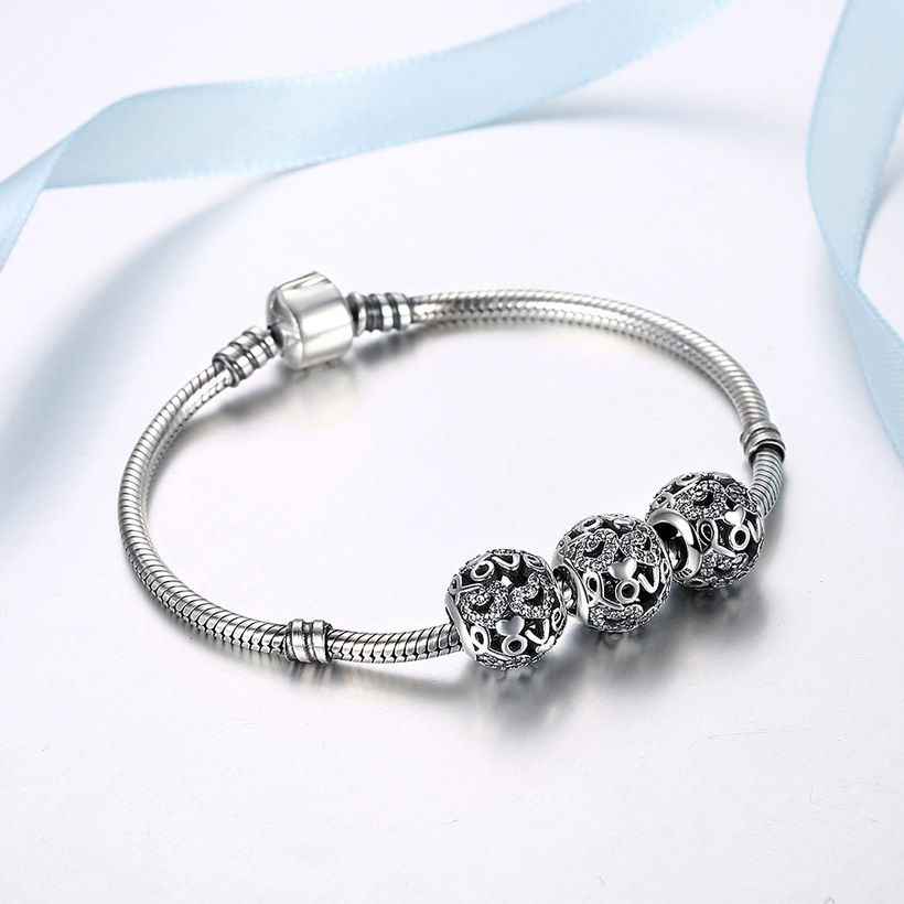Wholesale 925 Sterling Silver DIY Bracelet Bead Accessories TGSLBD085 4