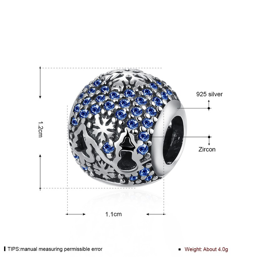 Wholesale Antique Sterling Silver CZ Bead TGSLBD093 0
