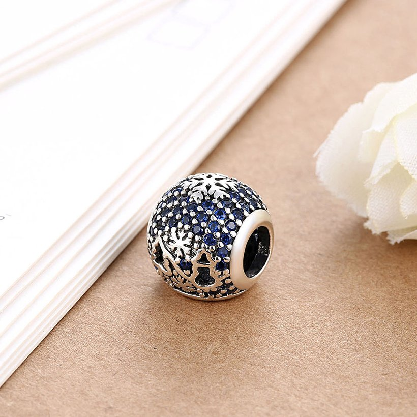 Wholesale Antique Sterling Silver CZ Bead TGSLBD093 2