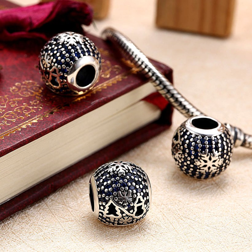 Wholesale Antique Sterling Silver CZ Bead TGSLBD093 3