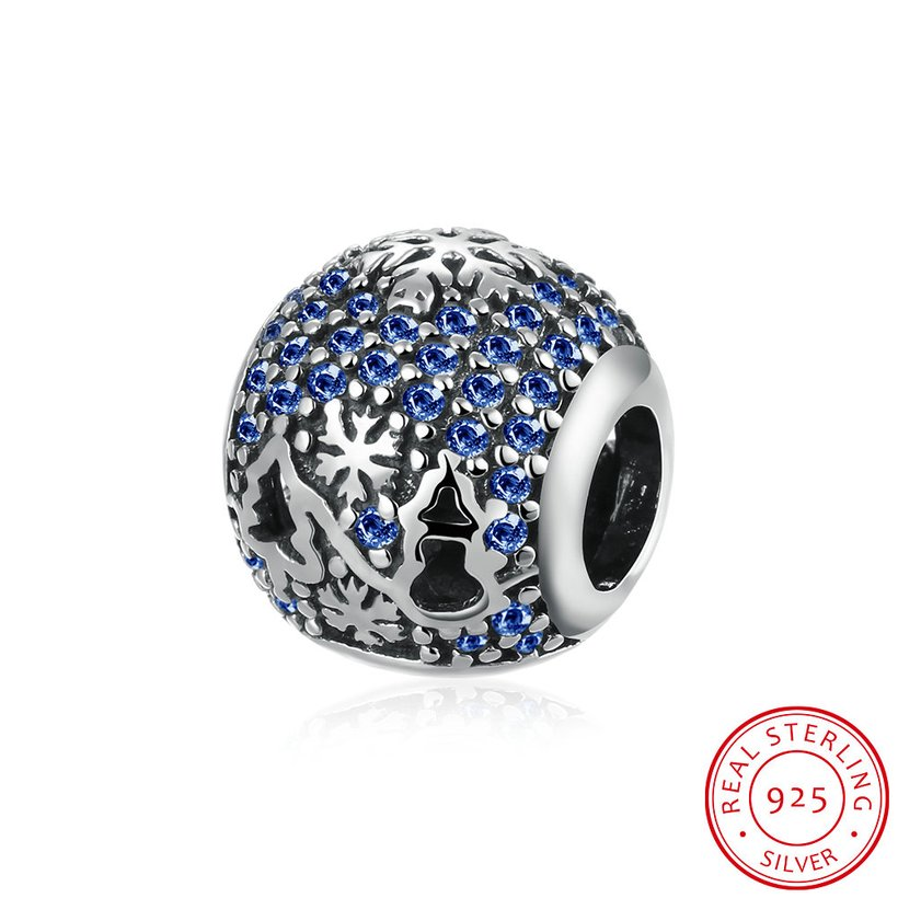 Wholesale Antique Sterling Silver CZ Bead TGSLBD093 5