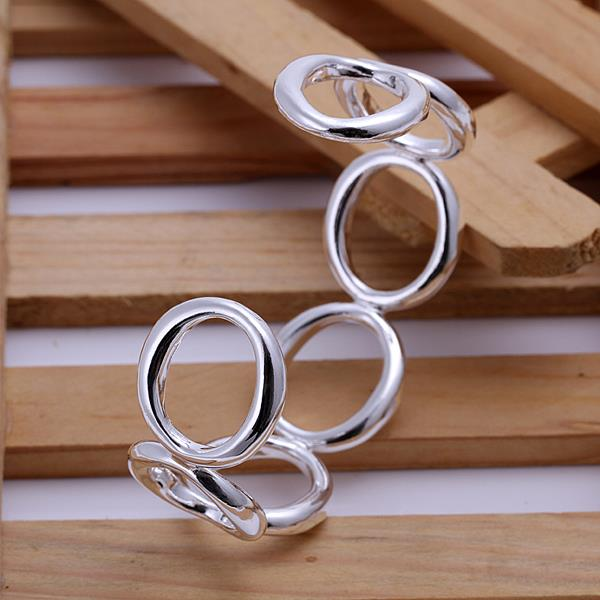 Wholesale Trendy Silver Round Bangle&Cuff TGSPBL018 0