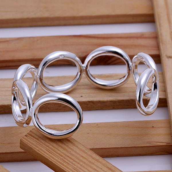 Wholesale Trendy Silver Round Bangle&Cuff TGSPBL018 1