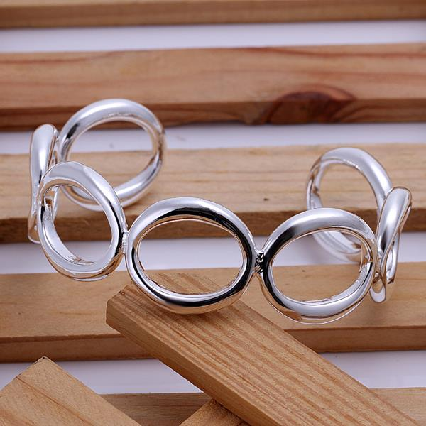 Wholesale Trendy Silver Round Bangle&Cuff TGSPBL018 2