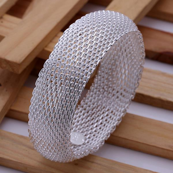 Wholesale Trendy Silver Round Bangle&Cuff TGSPBL040 0