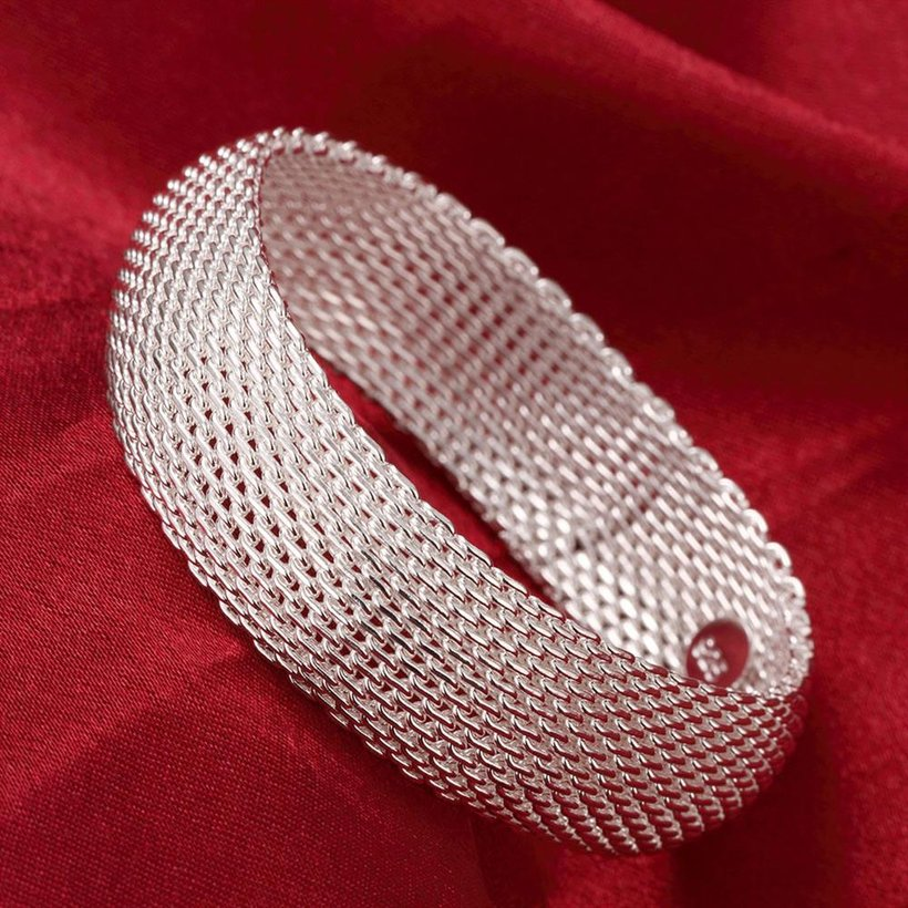 Wholesale Trendy Silver Round Bangle&Cuff TGSPBL040 3