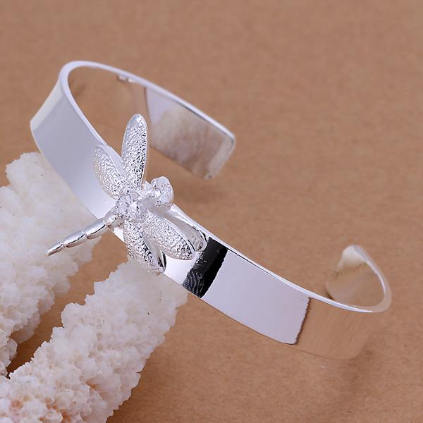 Wholesale Trendy Silver Insect Wood Bangle&Cuff TGSPBL051 1