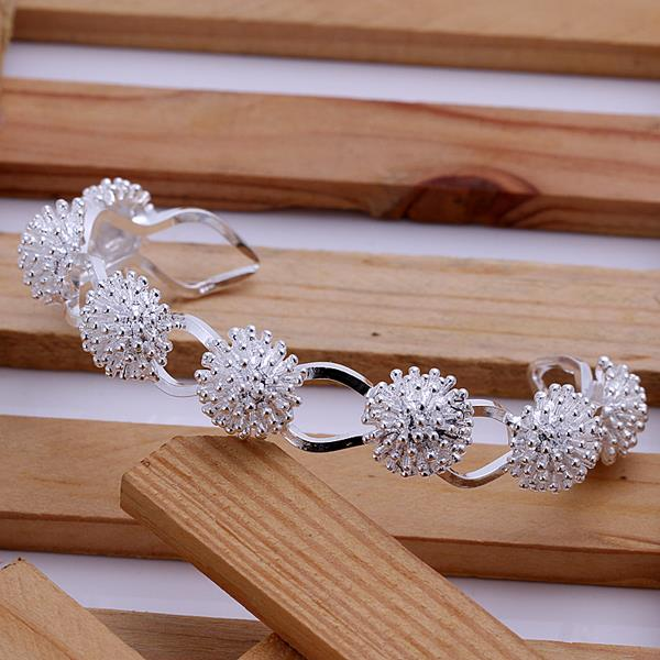 Wholesale Trendy Silver Plant Bangle&Cuff TGSPBL094 1