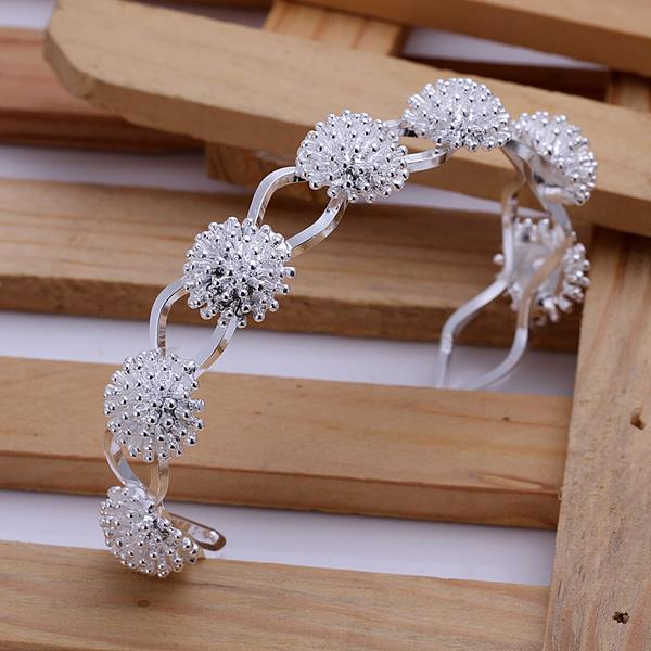 Wholesale Trendy Silver Plant Bangle&Cuff TGSPBL094 2
