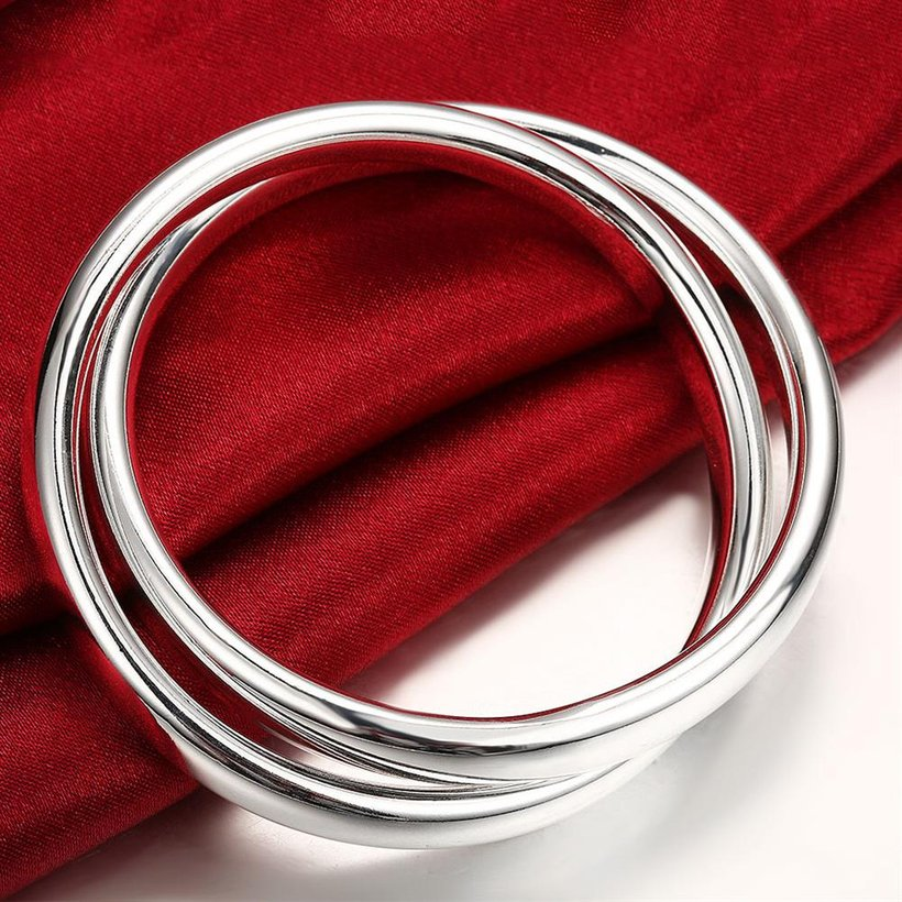 Wholesale Trendy Silver Round Bangle&Cuff TGSPBL098 3