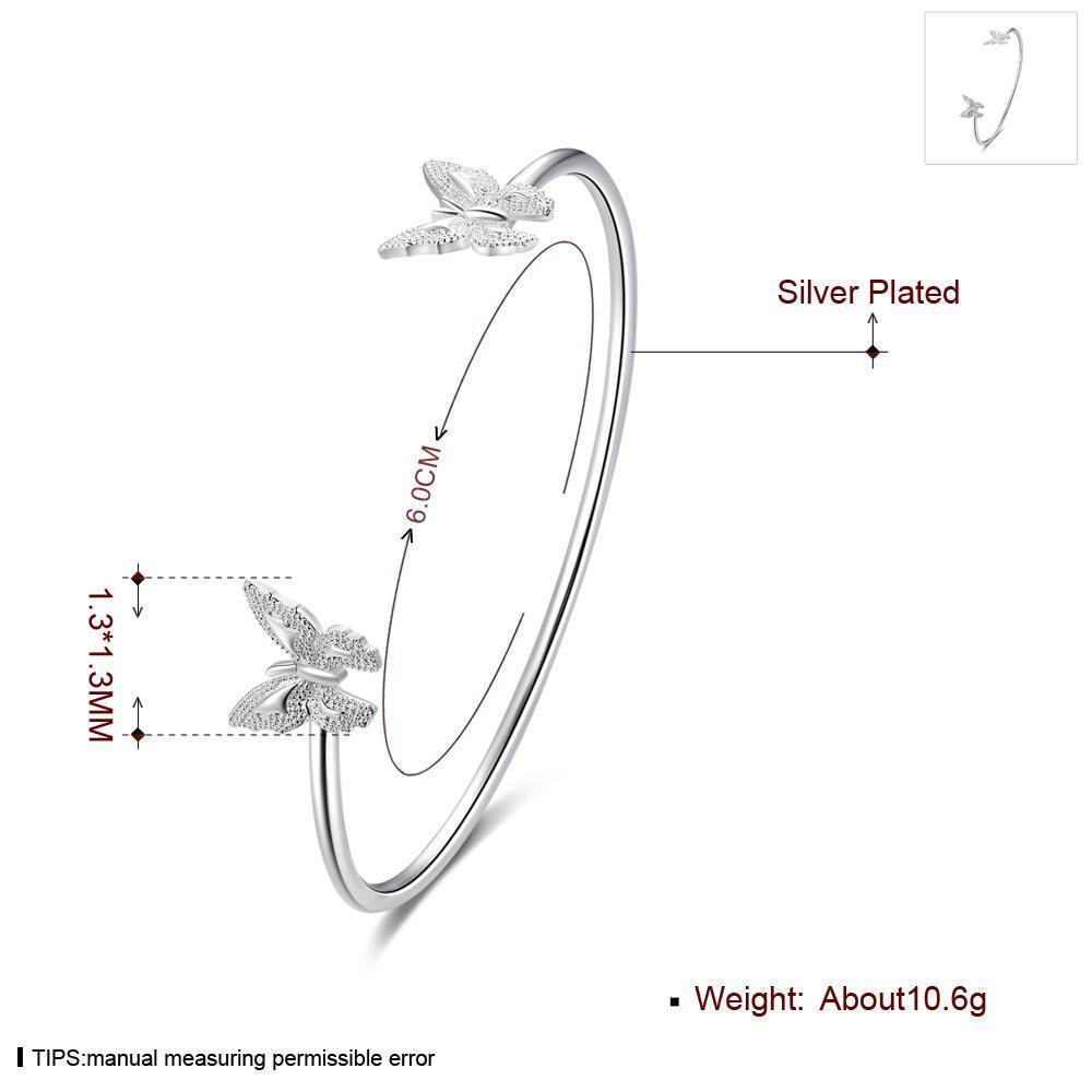 Wholesale Classic Silver Insect Bangle&Cuff TGSPBL153 0