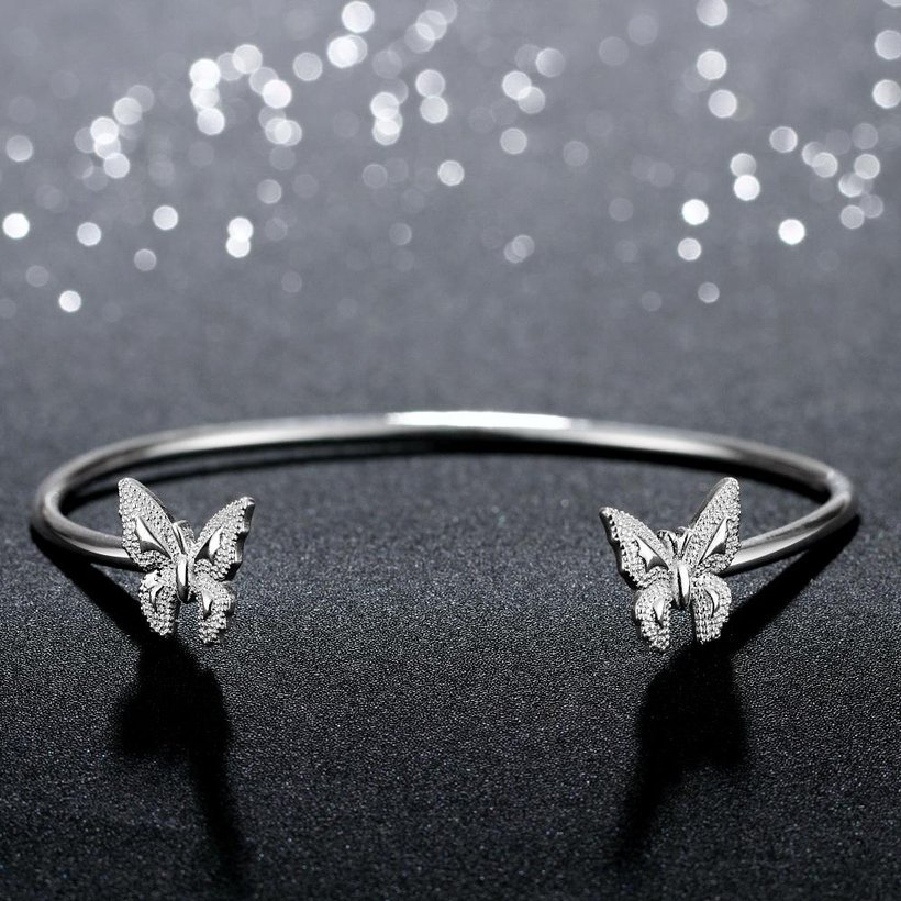 Wholesale Classic Silver Insect Bangle&Cuff TGSPBL153 2