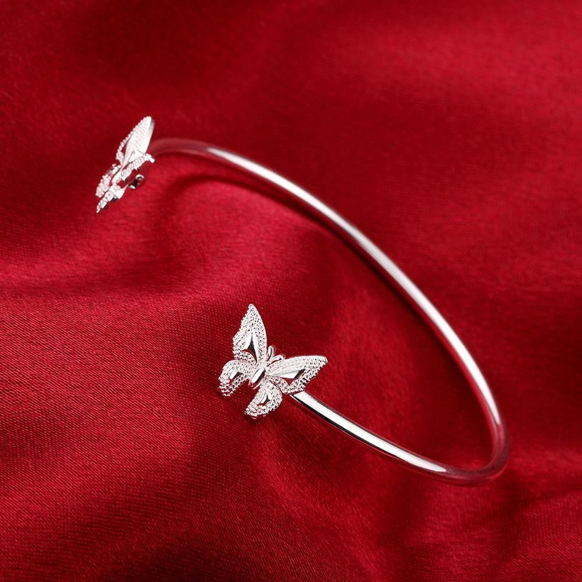 Wholesale Classic Silver Insect Bangle&Cuff TGSPBL153 3