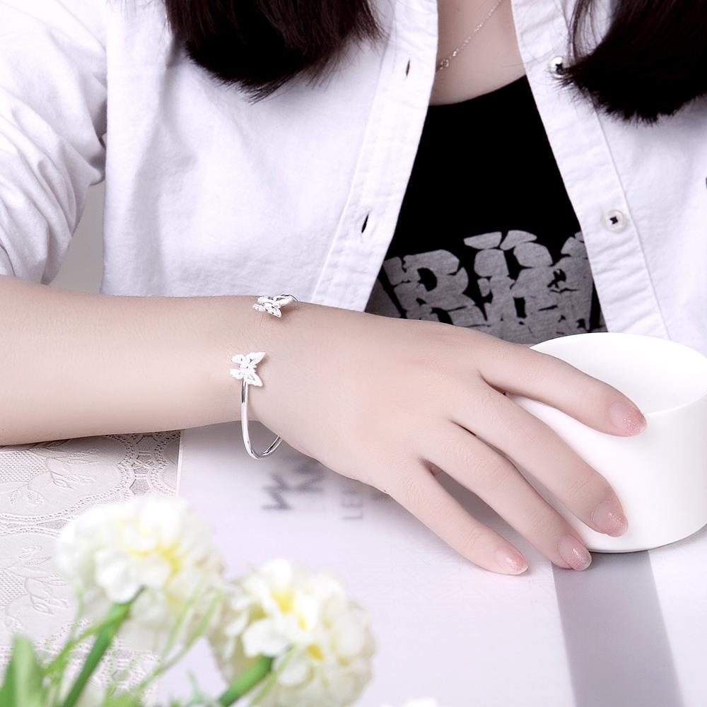 Wholesale Classic Silver Insect Bangle&Cuff TGSPBL153 4