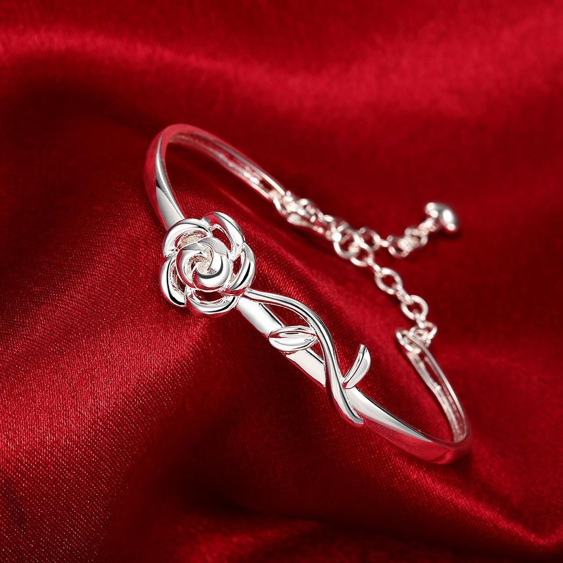 Wholesale Trendy Silver Plant Bangle&Cuff TGSPBL165 2