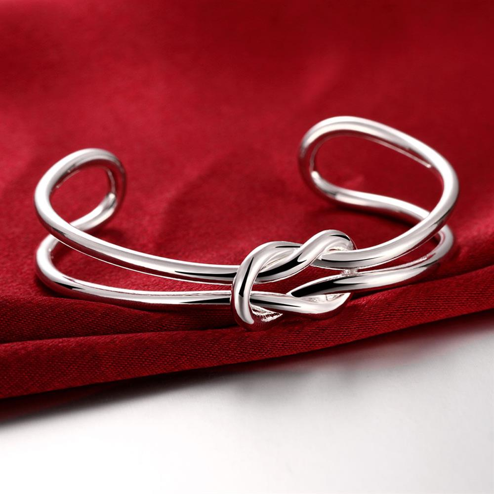 Wholesale Trendy Silver Plant Bangle&Cuff TGSPBL173 3
