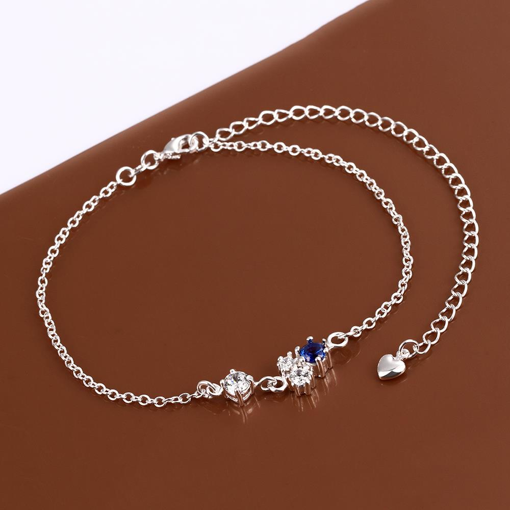 Wholesale Romantic Silver Water Drop Stone Anklets TGAKL063 3