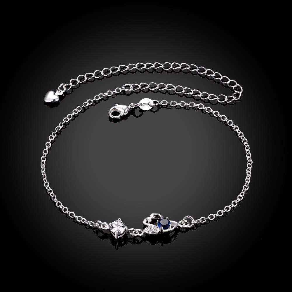 Wholesale Classic Silver Animal Stone Anklets TGAKL068 1
