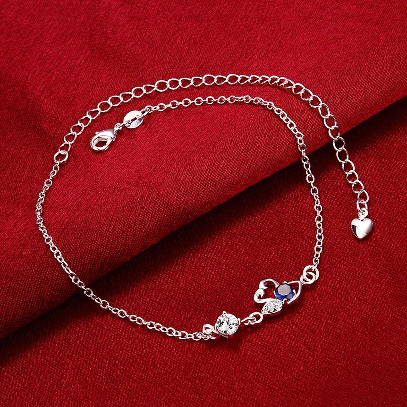Wholesale Classic Silver Animal Stone Anklets TGAKL068 4