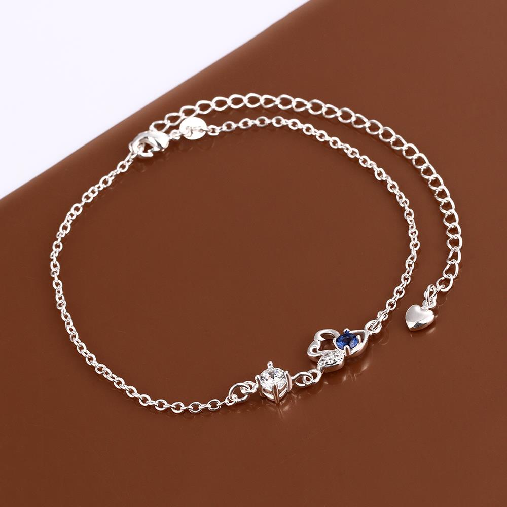 Wholesale Classic Silver Animal Stone Anklets TGAKL068 5