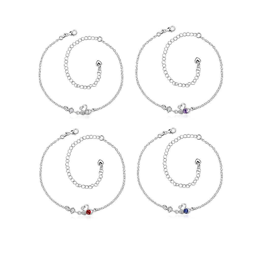 Wholesale Classic Silver Animal Stone Anklets TGAKL068 8