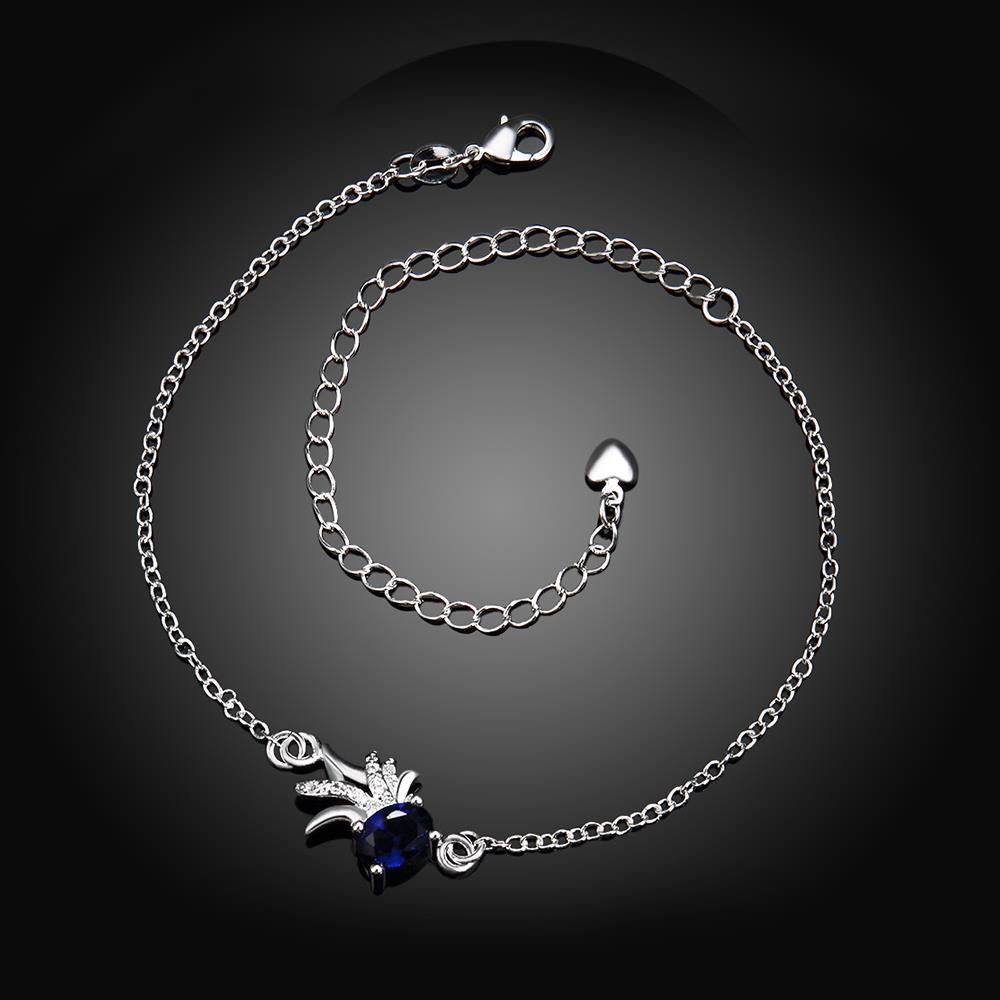 Wholesale Trendy Silver Animal Stone Anklets TGAKL078 1