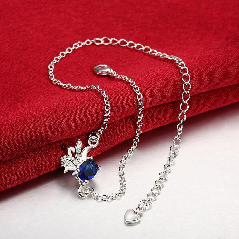 Wholesale Trendy Silver Animal Stone Anklets TGAKL078 5