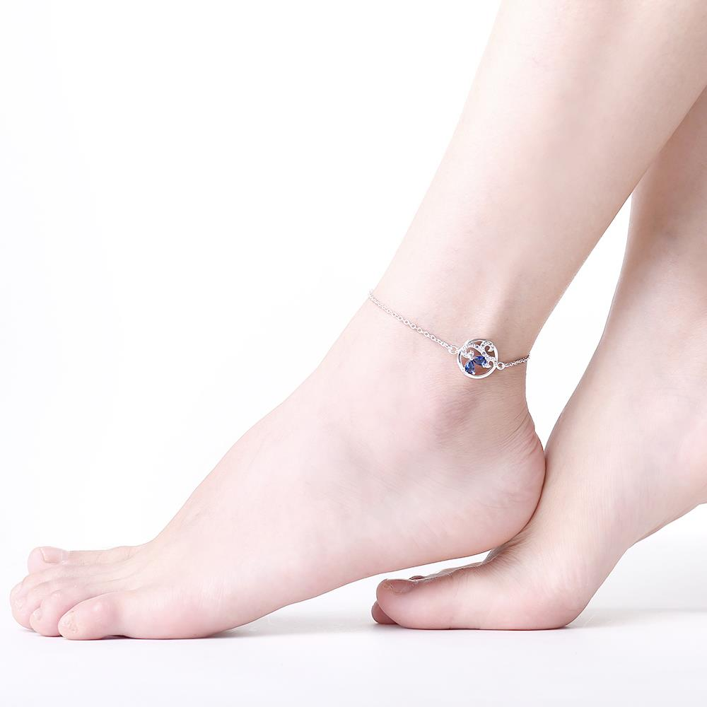 Wholesale Classic Silver Round Pearl Anklets TGAKL081 2