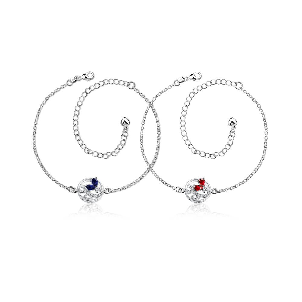Wholesale Classic Silver Round Pearl Anklets TGAKL081 3