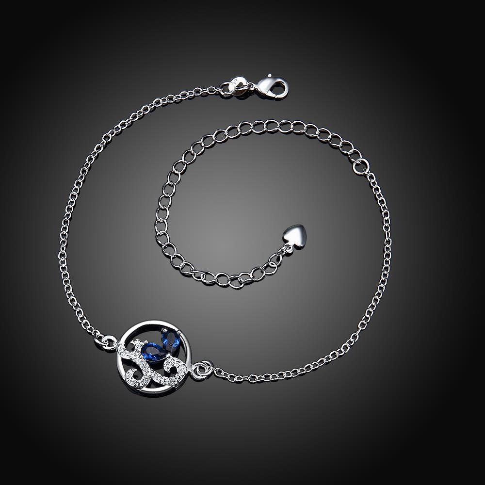 Wholesale Classic Silver Round Pearl Anklets TGAKL081 4