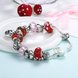 Wholesale Silver Love Beads Europe Style Bracelet TGBB006 1