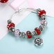Wholesale Silver Love Beads Europe Style Bracelet TGBB006 2